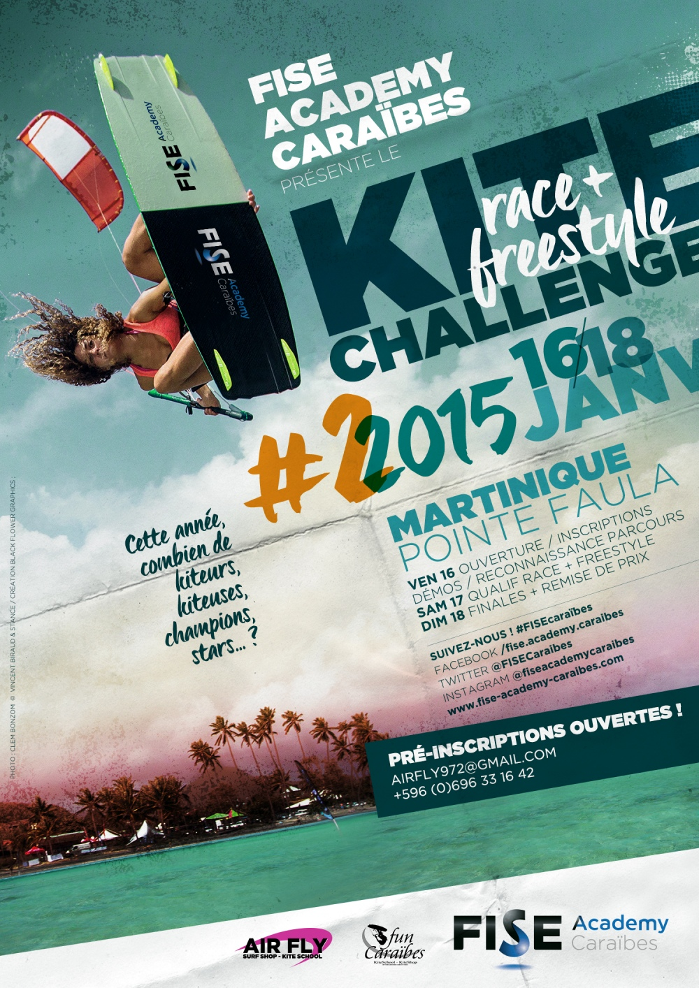 Kite Challenge 2015 du FISE ACADEMY CARAIBES