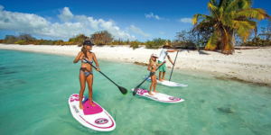stand-up paddle paysage tranquilité